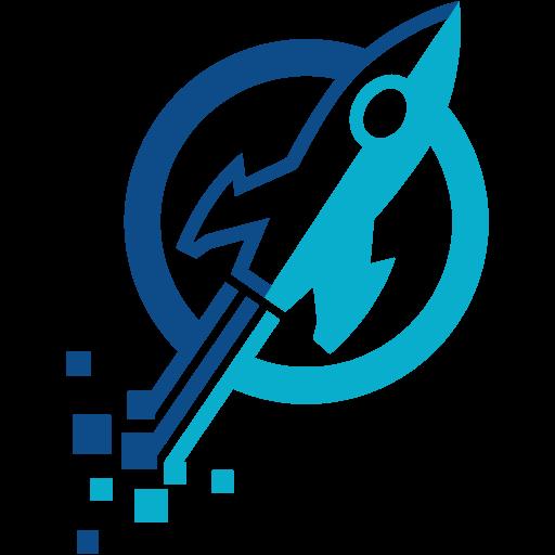 Launch Digital Rocket Logo